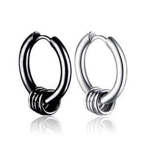 Stainless steel ring spring hoop earrings women mens earrings hip hop fashion jewelry will and sandy jewelry