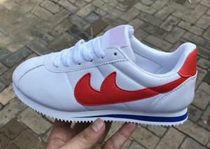 ENVÍO GRATIS Nuevas marcas calientes Calzado casual hombres y mujeres cortez zapatos Moda de cuero al aire libre Zapatillas de deporte tamaño 36-45 bajo pirce