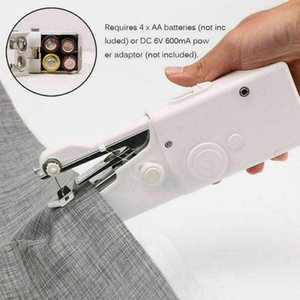 DHL Ship Electric Sew Machine Portable Mini Handheld Handy Stitch Home Clothes Sew Tools Multi Function Apparatus Chargeable Without Battery