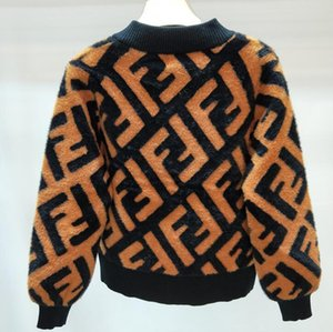 Mujeres de invierno Cálido abrigo de felpa marca de moda de lujo clásico original F terciopelo chal de piel de calidad superior lindo abrigo de Felpa regalos de Navidad femeninos