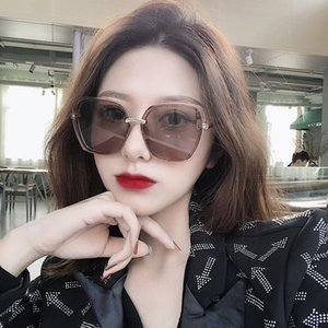 2020 New TikTok Red Frame Sunglasses Fashion Ladies Multilateral Sunglasses Fashion All-match Street Shot UV Protection
