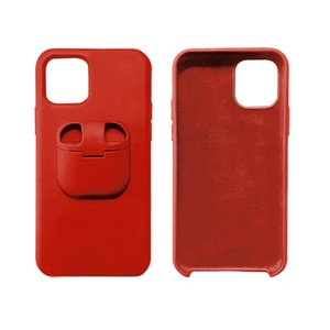 2 in 1 Liquid Silicone Phone Case For Airpods Cover For iPhone 11 Pro Max XS Max XR X 8 7 Plus