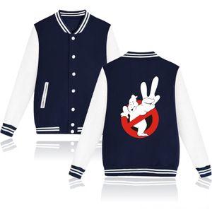 Ghostbusters Zip Up Baseball Jacket Casacos Masculino Mode hiver Streetwear Hip HopBomber Veste Homme Femme Hoodie Outerwe hommes