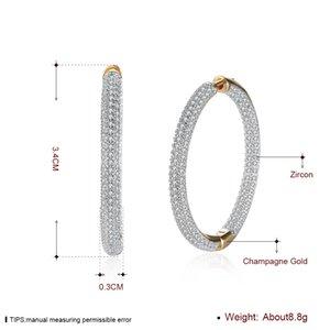 Форма золотая роскошная мозаика элегантный круг аксессуары серьги Zircon hoopggie шампанское день романтические валентинки подарки dnknb