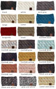 Bandeau de coton à cheveux Coton Coloré Crochet Twist Twist Bandeau Femme Hiver Eaufricaine Élévateur Elastic Hair Band Accessoires