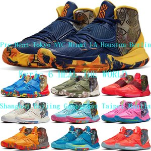 Los nuevos zapatos para mujer para hombre Kyrie 6 Tokio NYC Miami LA Houston Berlín Baloncesto Irving 6s Shanghai Beijing Guangzhou Taipei Manila zapatillas de deporte 36-46