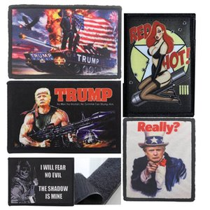 2020 Trump Tactical Bordado Armband forças armadas do bordado Atacado Roupa Backpack listrado pulseira com gancho Anel emblema XD22936