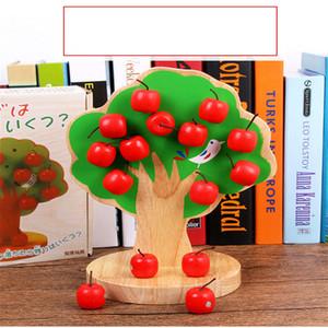 2018 년 새로운 장난감 아이들의 나무 자기 자기 사과 나무 아기 사과 과일 붙여 넣기 유치원 조기 교육 수학