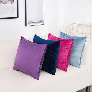 Solid Velvet Pillow Cushion Cover Home New Year Decorative 40*40 45*45 50*50 55*55 60*60cm Kussenhoes Housse de Coussin Cojines