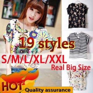 Summer Women T Shirt 19 Patterns Print Plus Size Cheap Clothes China Roupas Femininas Female Summer Style Appliques T Shirt Women Top