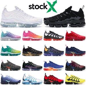 Тройной черный Т.Н. плюс кроссовок для тапки женщины мужского тренера белого Радуга Lemon Lime Silver Gradient дышащих спортивная обуви