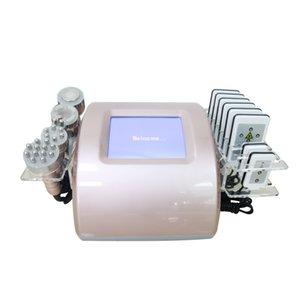 Matériel de beauté ménagers multifonctionnel portable 5 têtes de la cavitation ultrasonique graisse minceur machine lipofréquence seringue de la peau