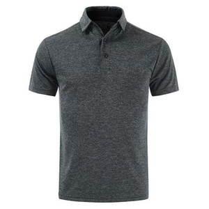 Mens Lapel Neck Short Sleed Sports Mens Designer Polos Golf Solid Mens Tops Male Aparel