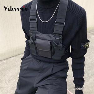 Mode Nylon Poitrine Rig Sac Noir Gilet Hip Hop Streetwear Fonctionnel Harnais Tactique Poitrine Rig Kanye West Wist Pack Sac