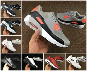 Chaussures 2020 Air Cushion 90 HYP PRM MENS Chaussures de course jour pas cher Noir Blanc Rouge 90 INDÉPENDANCE Sneakers Air90 Zapatillas Chaussures de sport