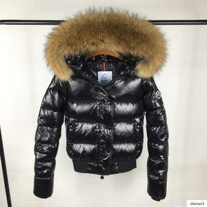 Luxury Women Brand M Women Down Jacket Coat 100% Real Raccoon Big Fur Collar Women S Down & Parkas