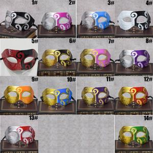 Máscara do partido da máscara 24 Cores Mardi Gras Celebration Máscara Cosplay Jazz príncipe do meio Plástico Rosto DH0107 Esculpido