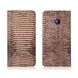 Estuche de piel auténtica con patrón de lagarto y ranura para tarjeta para HTC U Play Flip Bolsa para teléfono para HTC U Play Funda con tapa Kickstand