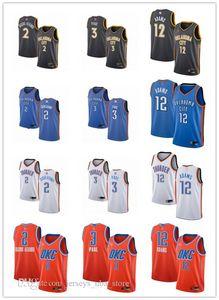 Mens Womens YouthOklahomaCityThunder2 Shai Gilgeous-Alexander 3 ChrisPaul 12 Steven Adams custom Basketball Jerseys