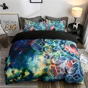 Bohème Galaxy Literie coloré imprimé Housse de couette Pillowcases Twin Queen King Size Polyester Literies Couvre-lit Dropship