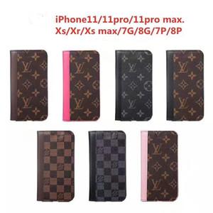 iPhone 11 Pro XR XS Max X 7 8 Artı iPhone11 Ucuz Kılıf İle Kart Yuvası İçin Telefon Flip Cüzdan Kılıfları