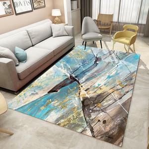De gran tamaño de la alfombra nórdica Estilo Sala de alfombras Pintura diseño del dormitorio Alfombras Mesa antideslizante Mats