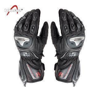 En gros en fibre de carbone VEMAR cuir racing écran tactile gants gants d'équitation / moto gants complets de doigts gants de cyclisme anti-chute M-2XL