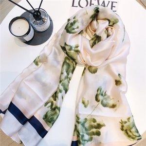 Dames de soie nouvelle parasol pour 2020 dames imprimé châle écharpe douce plage et mince 190 * 80cm