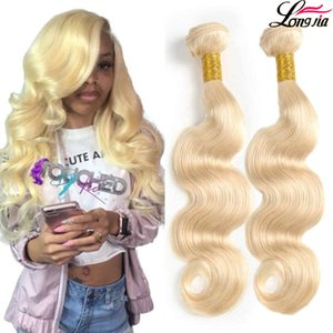 Pure 613 Blonde Hair Weaves Body Wave Peruvian Hair Bundles 3 pcs Unprocessed Body Wave Human Hair Extensions