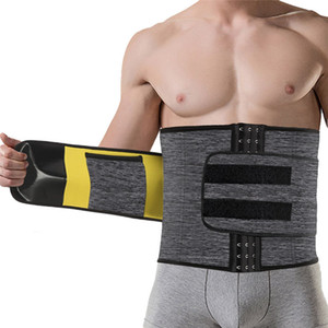 حزام النمذجة Ningmi Sliaming Males الخصر مدرب Mens جسم Shaper مشد Neoprene Shapers البطن