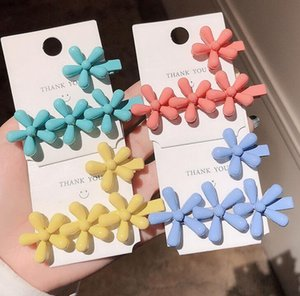 New Fashion Candy Color Girls Flower Sweet Hair Clip Barrette Stick Slide Hairpin Hair Accessories