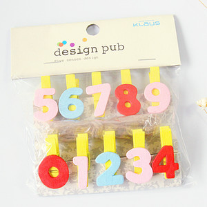 10 Pieces Colored Wodden Clips Mini Clothespins 3.5 x 0.7 cm Craft Letters Set for Home Decoration JZ01