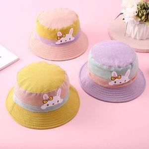 Pure Cotton children's basin infant fisherman cartoon pattern breathable baby bucket bucket hat sun hat