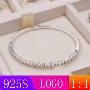 LISM [gros] S925 argent sterling 2019 Hiver Nouveau 1: 1 Superbe lumière Bracelet Lady Mode cadeau bricolage Bijoux originaux