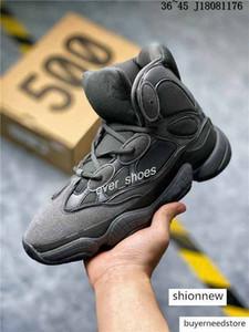 2020 New 500 Kanye west Boot mens Winter boots bone white Black Desert Rat Blush Ozweego running shoes Designer High top sports sneakers