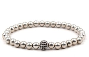 8mm dgg4 gold silver ball bead micro pave cz zircon cubic zirconia Bracelet Chakra Macrame Charm Braided Copper Rope Bangles