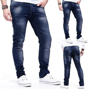2020 Jeans For Men 2020 Pants Casual Long Skate Board Stright Fashion Pocket Fold Jeans Casual Pants Men Clothing