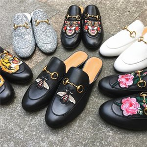 mode en cuir de luxe oisif Muller Chaussures avec mode Slipper Boucle Femmes Princetown Chaussons Lady Casual Mulets Flats Chaussures en cuir
