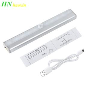 Haoxin Yüksek kaliteli LED Gece Işığı USB Şarj edilebilir 500mAh Dahili Lityum pil, Hareket Sensörü LED Işık, Kolay yükleme