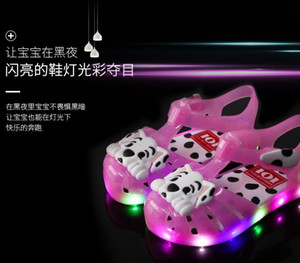 Children's Sandals, Cartoon Dogs, Girls'Sandals, Boys' Hole Shoes, LED Flash Shoes, New Children's Beach Shoes, Summer