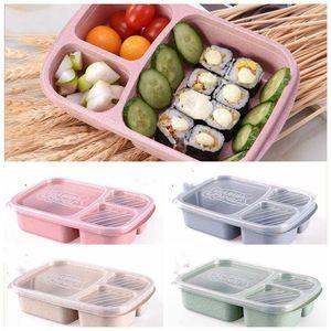 Grano lunch box Straw lolla di riso eco scuola amichevole ciotole fast food pranzo separati boxex uso alimentare scatole di pranzo PP studente LXL275-A
