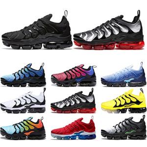 Nike Air Vapormax TN Plus TN Plus Sneaker Мужчины Женщины Кроссовки Закат Тройной Черный Белый Серебряный Выкройки Игры Royal Work Синий Тренер Спортивные Кроссовки Размер 36-45