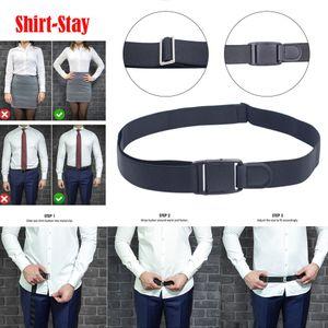 uomini donne fashion business regolabile Vicino camicia-Stay camicia migliore rimane nero infilare cintura Shirt Men nascosto Elastico para camisa