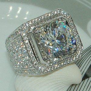 European and American cross-border hot sale fashion new domineering men's ring full diamond micro-set zircon finger ring wholesale B2366