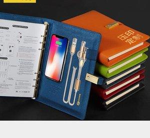 لوازم كهربائية محمولة المصدر PU A5 محمول متعدد الصفحات 160 مع 16G U القرص المسؤول الدفتري ملاحظات دفاتر مدرسة مكتب HA654