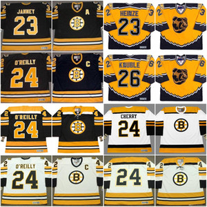 Boston Bruins Jersey 23 Craig Janney 1990 23 Steve Heinze 24 Don Cereja 24 Terry O'Reilly 26 Mike Knuble Vintage Hockey Jersey