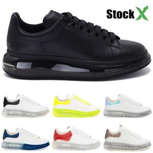 Hombres plataforma de los zapatos del diseñador de moda de lujo de triple negro oro metálico universidad verde rojo de cuero genuino cristal único zapatillas de deporte casuales