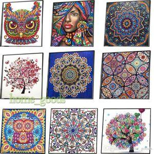 36 estilos En Forma 5D DIY diamante especiales kits de pintura Cross parte puntada diamante bordado árbol del búho rhinestones del arte de la pared imágenes Decoración del hogar