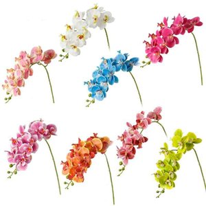 Künstliche Phalaenopsis Schmetterling Orchidee Blume Home Hochzeit Dekorative 3D Print 9 Blume Kopf Phalaenopsis Weihnachten Home Decor