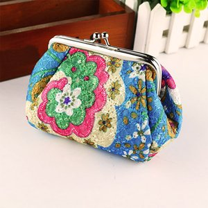 New Vintage Floral stampato Sacchetto cosmetico Donna Makeup Bags Donna Zipper Cosmetics Bag Portable Travel Make Up Pouch2.54